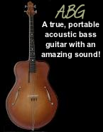 Acoustic bass guitar: true portable bass with amazing sound!